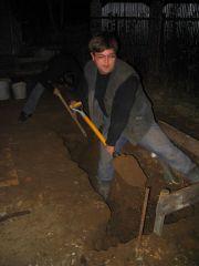 копка и заливка фундамента под баню