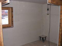 Отделка стены и потолка моечной
