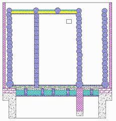 план бани - разрез