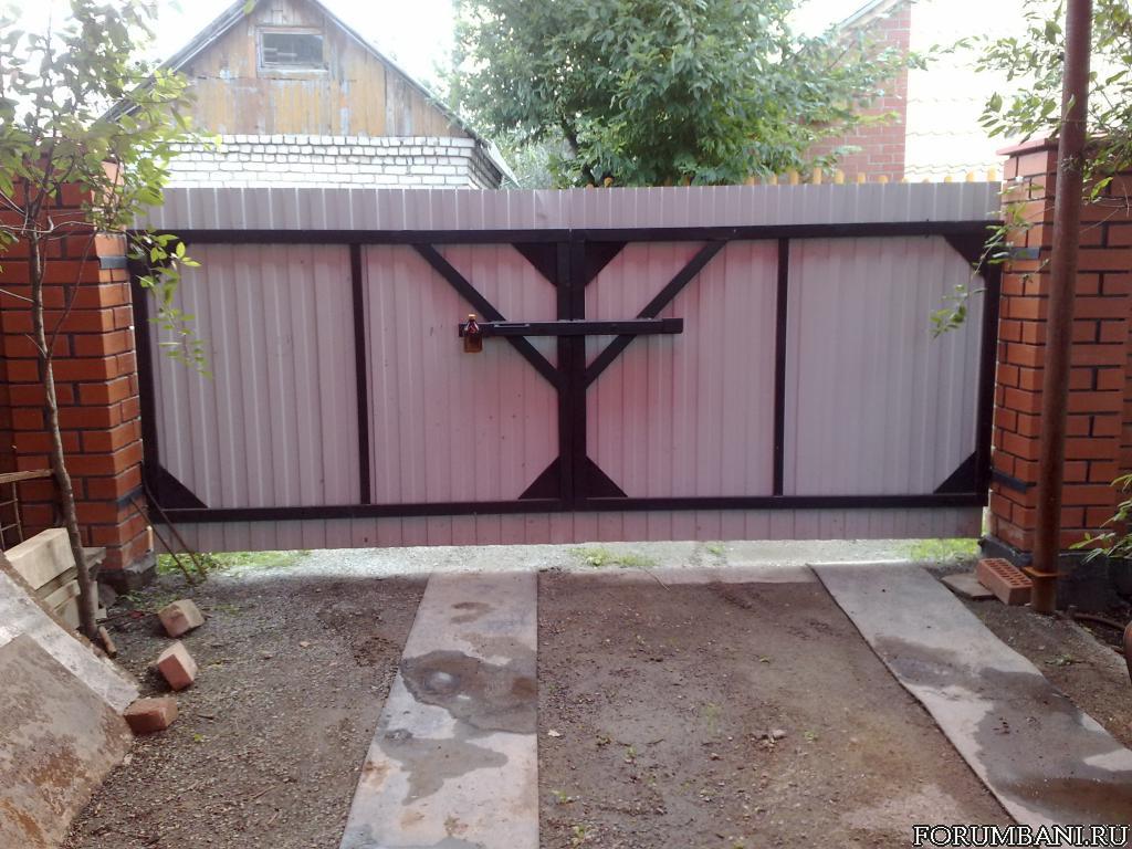 Запоры для распашных ворот фото 4