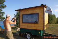 Как построить баню на колесах