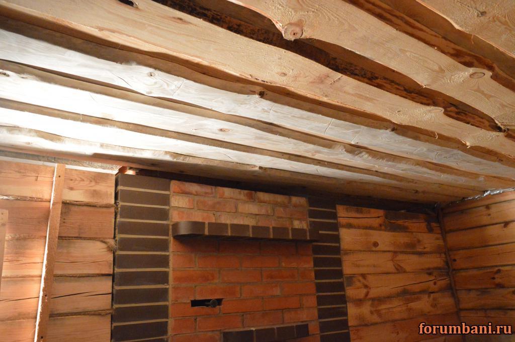Подшивной потолок в бани своими руками 59