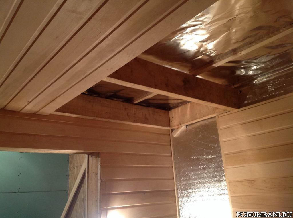 Подшивной потолок в бани своими руками